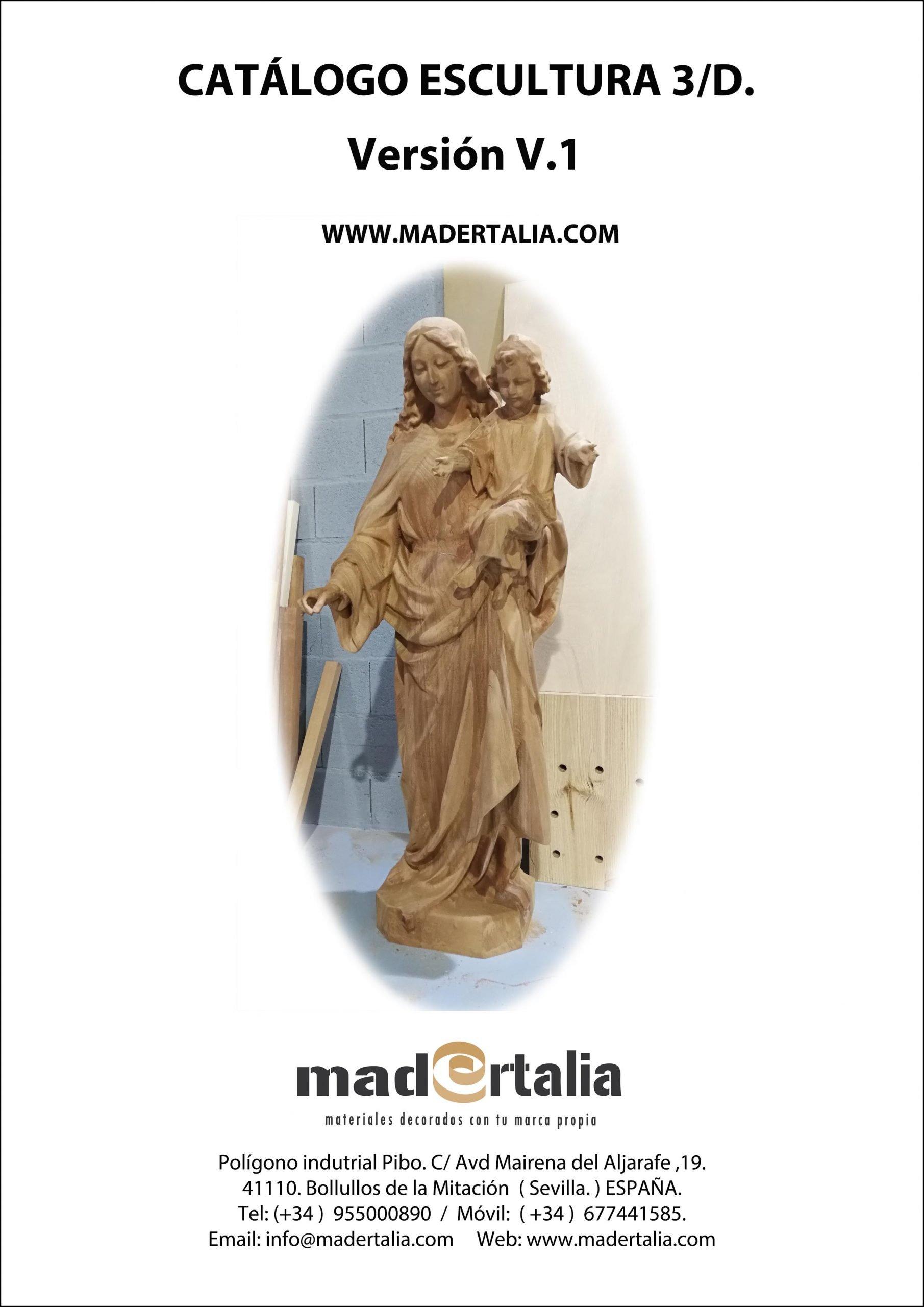 Escultura Virgen Maria Auxilliadora en madera de Cedro Real Medidas 1550 mm altura
